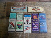 Vintage Matchbook Covers Lot of 7 Sea Food Restaurants Lobster Clams Collector