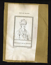 Painter van Mieris & Dom Bernard Monteaucon - 1809 Copper Plate Portrait Prints