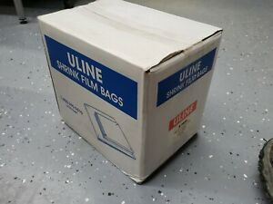 "7"" x 10"" SHRINK WRAP BAGS - 100 Gauge - ULINE - S-6834 - 3000 ct - DVD CD BOOK"