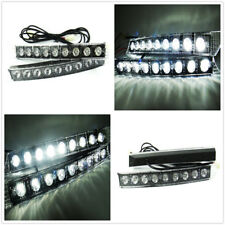 High Power 9 LED DRL Audi Style Universal Daytime Running Parking Fog Light kit