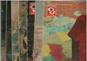 Hungarian communist era cultural politics magazine, lot of 6, ORSZAG VILAG 1980s