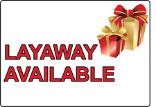 Layaway Available Storefront Window Advertising Adhesive Vinyl Sign Decal