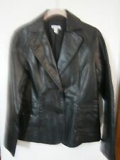 RELATIVITY LEATHER LOOK BLAZER/JACKET SIZE SM