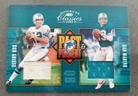 2005 Donruss Classics Dan Marino Bob Griese Classics Past & Present Jersey card