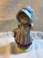 Lefton China Girl In Bonnet KW5153 Porcelain Figurine 5.5x3