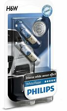 2 Bombillas Philips WhiteVision H6W Xenon White Vision Lampar Señalizacion Coche