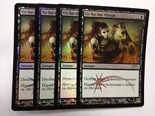 Go for the Throat FOIL x4 English MTG DCI PROMO Mint