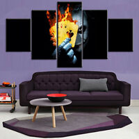 Modern Abstract Oil Painting Wall Decor Art Huge Clown Magician Poker Halloween