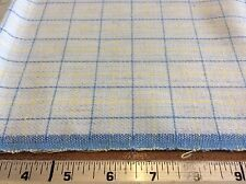 BLUE & YELLOW CHECKED COTTON-60 INCH WIDE- 1 YARD