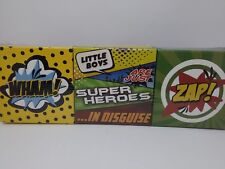 Super Heroes Home Accents Decorative Use Set of 6 Hobby Lobby New Sealed