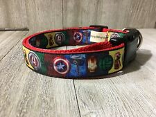 Avengers personalized nylon dog collar