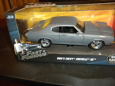 Jada Toys Fast and Furious Die Cast Car, Dom's Chevy Chevelle SS Gray 2018