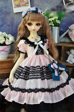 1/3 bjd SD 60cm girl doll light pink dress outfits dollfie luts #SD-112L ship US