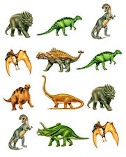 PRE-CUT DINOSAURS EDIBLE RICE / WAFER PAPER CUP CAKE TOPPERS PARTY DECORATIONS