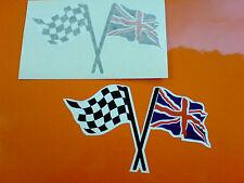 Alterno & Union Jack Bandiera CASCO MOTO AUTO ADESIVI DECALCOMANIE 2 OFF 100mm