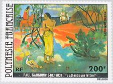 FRENCH POLYNESIA POLYNESIEN 1979 285 C169 Paul Gauguin Painting Gemlälde Art MNH