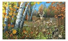 """68 """"Autumn Courtship"""" Deer 31x21 Paper Print by Robert Metropulos"""
