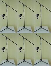 6x ADAM HALL Mikrofon-Ständer ECO mit Mikrofonklammer und Galgen Mikrofon-Stativ