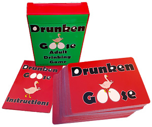 Drunken Goose Adult Drinking Card Game. Party Gift Birthday Christmas Present