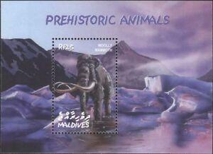 Maldives 2002 Prehistoric Animals/Woolly Mammoth/Nature/Wildlife 1v m/s (n18829)