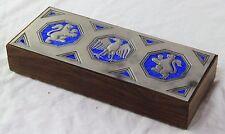 OTTOVIANI 925er Silber Box Emaille Palisanderholz signiert 1960/70er Cofanetto
