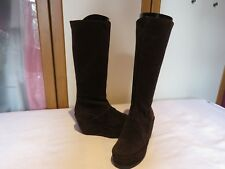 FLY LONDON PUNCH PESK P500415001 SUEDE WEDGE KNEE HIGH BOOTS UK 6 EU 39 RRP £150