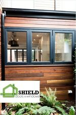 BIFOLD WINDOW | ALUMINIUM - DOUBLE GLAZED - 1200h x 1810w | Matt Black