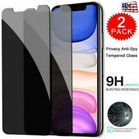 For iPhone 11 Pro X XS Max XR Privacy Tempered Glass Anti-Spy Screen Protector