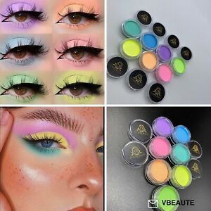 Water Activated UV Neon Pastel Eyeliners Eyeshadow Pigment Cruelty/Vegan Free