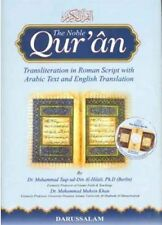 The Noble Quran Arabic / English with Transliteration in Roman Script (Large)