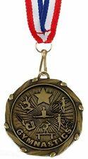 Paquet de 100 Personnalisé Gymnastique Femelle Médailles & Rubans Gravé Gratuit