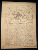 Original handgemalte Karte von Zschopau (aus Simonschen Chronik) um 1920 sf