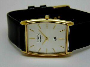 Seiko Quartz Super Slim Men Gold Plated Excellent Watch Run Order