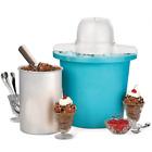 Nostalgia 4-Quart Electric Ice Cream Maker, Blue, NEW photo