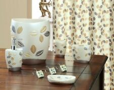 6 Piece Decorative Bathroom Accessory set Made of Ceramic (Sabrina Beige)