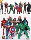 7 Piezas Los Vengadores Figura De Acción Marvel Hulk Capitán Hawkeye Ironman