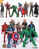 7pcs The Avengers Action Figure Marvel Hulk Captain Hawkeye Ironman Thor TG003