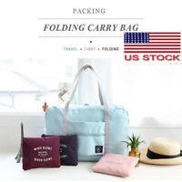 Packable Carry on Duffel Bag Travel Tote Weekender Sport Gym Zipper Duffle Bag