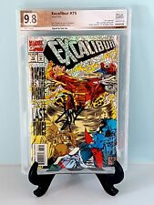 Excalibur #75 PGX 9.8 Signed by STAN LEE Prismatic HoloFoil Cover Like CGC