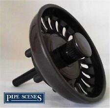 Kitchen Sink Basket Strainer Waste Plug Coloured Mocha Brown Mocca