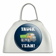 Truck Yeah Funny Humor White Metal Cowbell Cow Bell Instrument