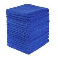 10 x Large Blue Microfibre Cleaning Auto Car Detailing Soft Cloths Wash Towel