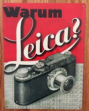 Leica Camera AG Warum Germany M9 X1 SL M Q S Ad Vintage Photo Poster Metal Sign