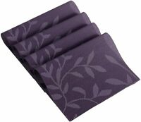 Placemats Set of 4 Woven Dining Table Mat PVC Washable Heat Resistant Purple