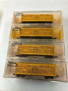 N Scale Atlas #5325 stock cars; 4 each Union Pacific; used