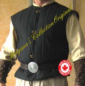 Medieval Viking Armor Short Padded Gambeson (Sleeveless)