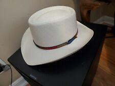 Vintage Stetson Cowboy Hat - Straw  7 1/4-Style W2981 Monroe