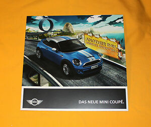 Mini Coupe 2011 Prospekt Brochure Depliant Folder Prospetto Broschyr Catalog