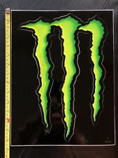 "Monster Energy Logo Sticker Decal Sponsor Sheet Kit 14"" By 10"""