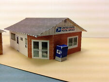 N Scale Buildings (2) - U.S. Post Office or Canada Post Office Card Stock Kit
